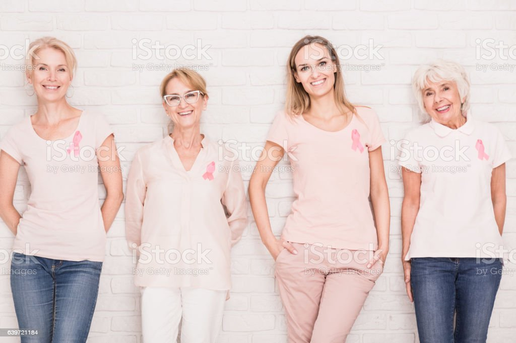 Fighting against cancer together stock photo