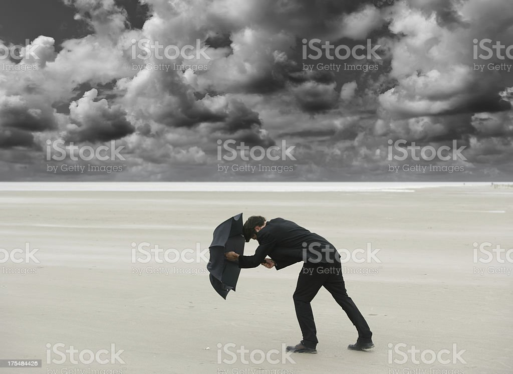Fighting against the storm royalty-free stock photo