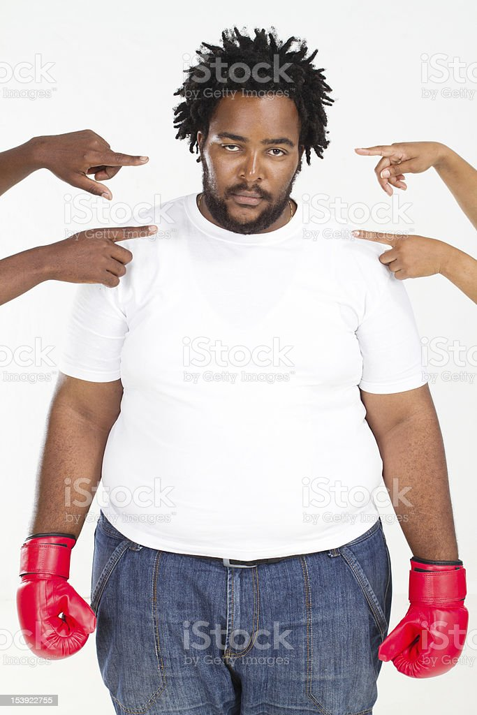 fighting back accusing royalty-free stock photo