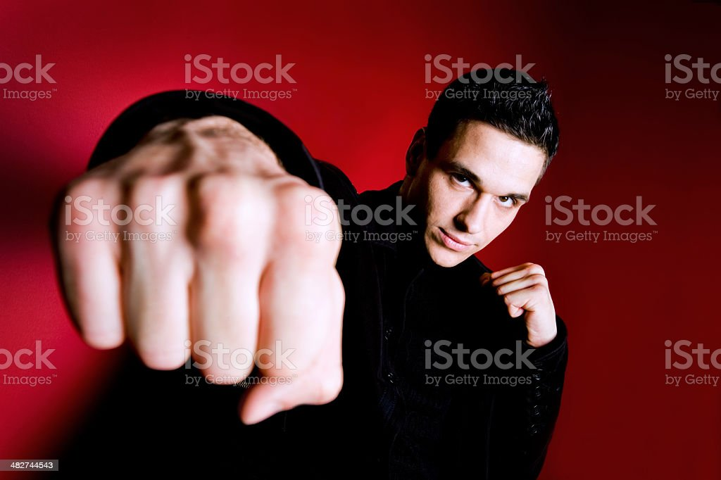 Fighting Businessman royalty-free stock photo