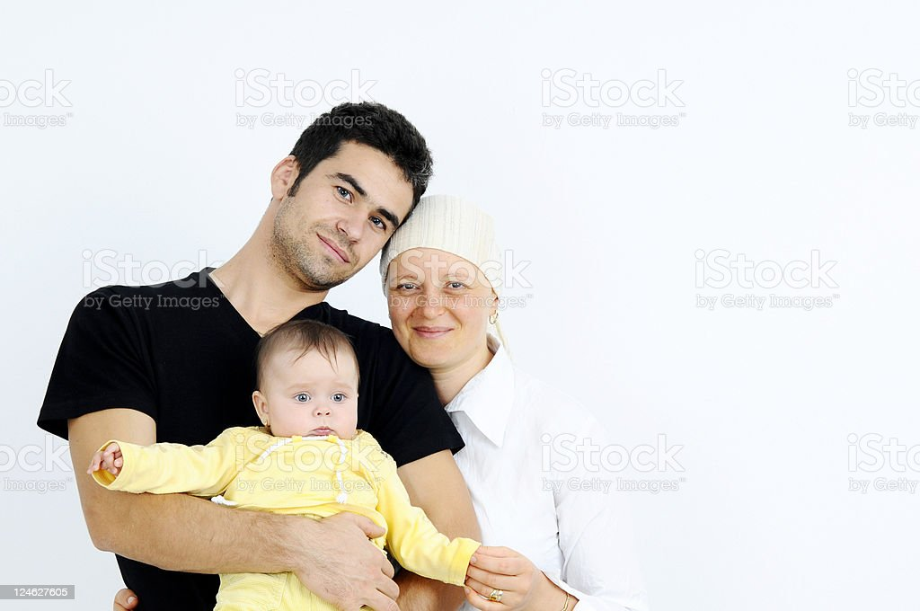 fighting cancer family royalty-free stock photo