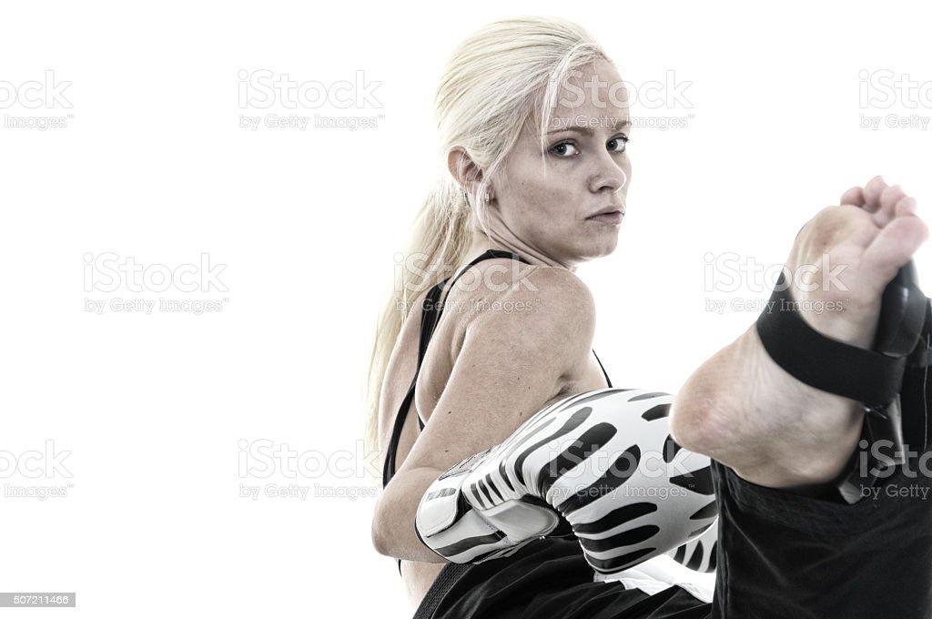 Fighting chance stock photo