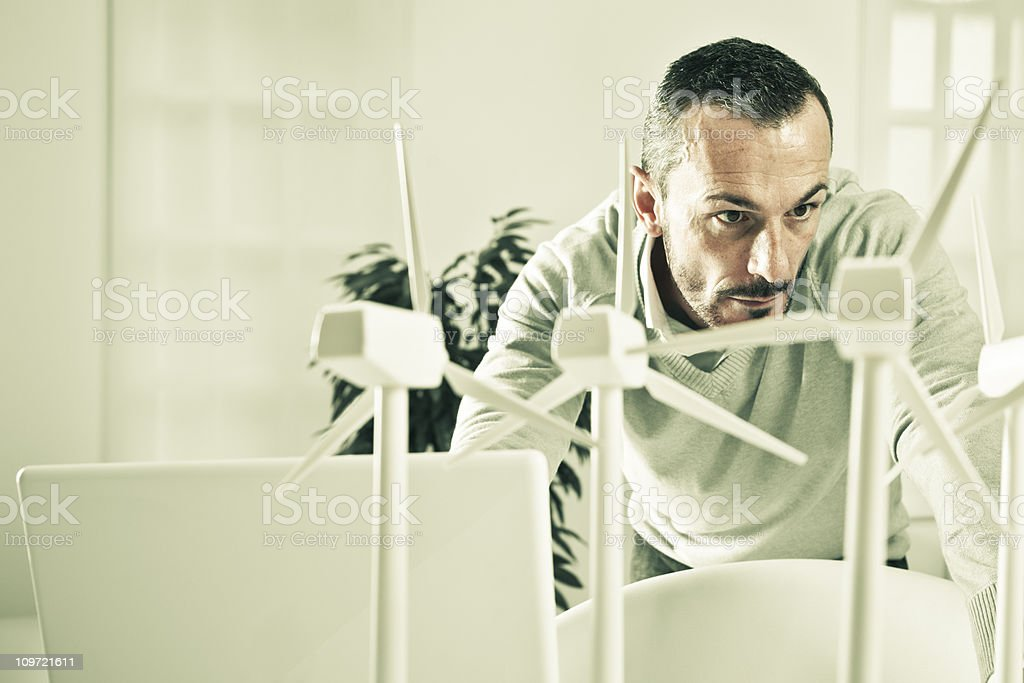 Fighting climatic change stock photo