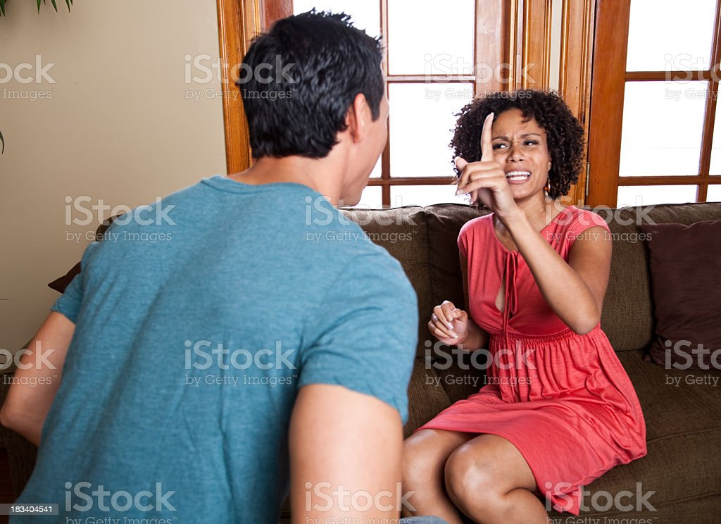 fighting couple royalty-free stock photo