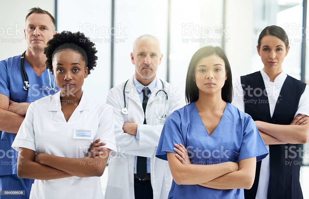 Fighting disease on the frontline stock photo