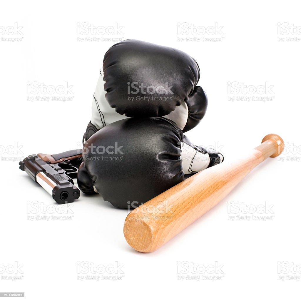 Fighting equipment stock photo