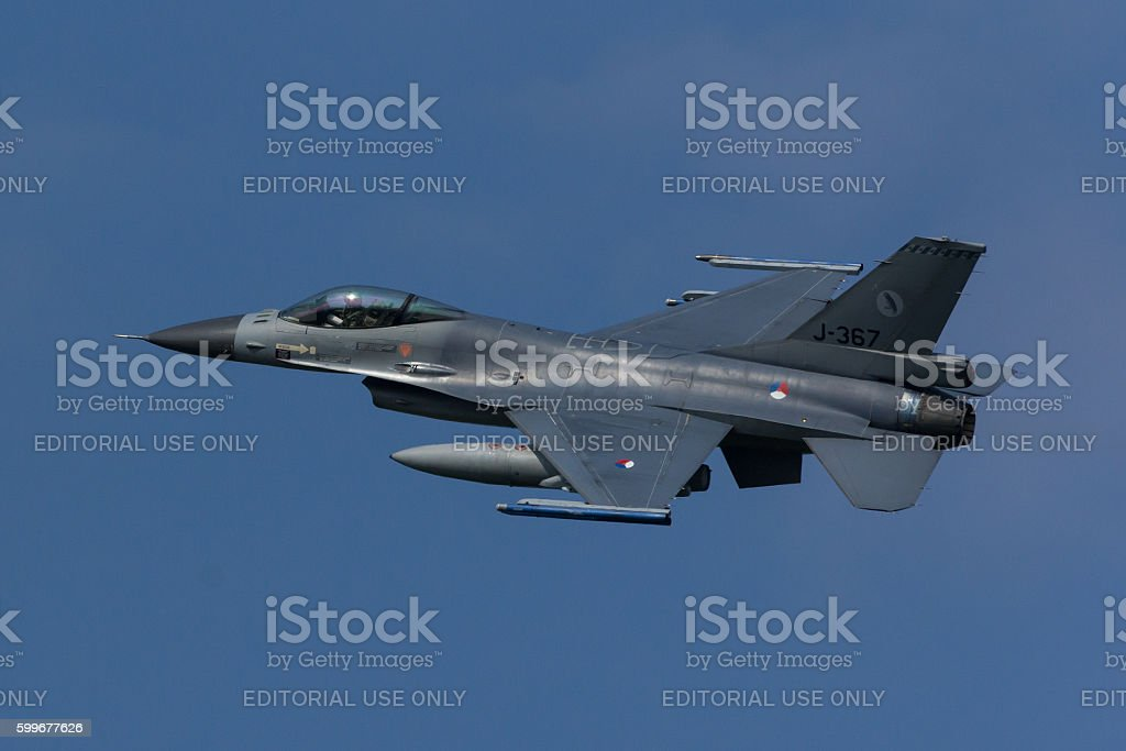 F-16 Fighting Falcon during Frisian Flag exercise stock photo