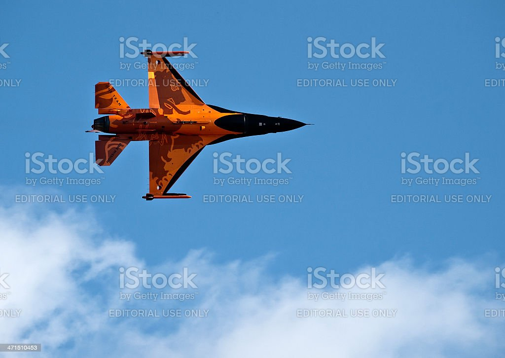 RNLAF  F-16 Fighting Falcon on Afterburner royalty-free stock photo