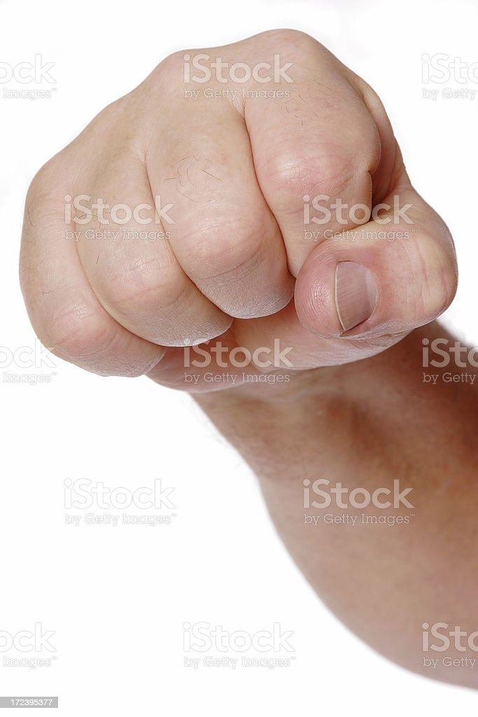 Fighting Fist royalty-free stock photo