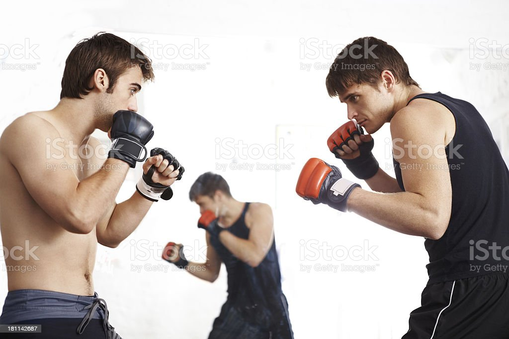 Fighting fit royalty-free stock photo