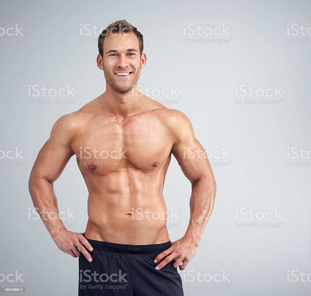 Fighting fit stock photo