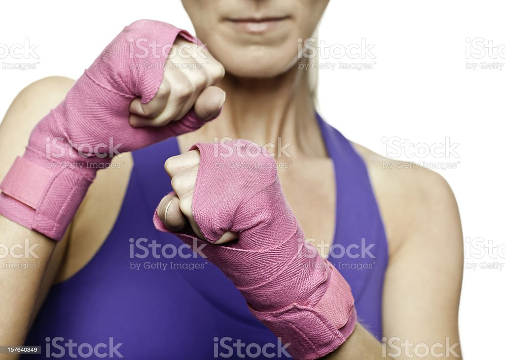 Fighting for Breast Cancer Awareness stock photo
