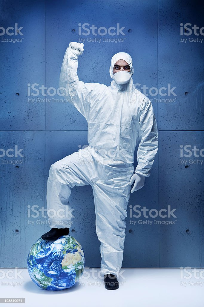 Fighting for the planet stock photo