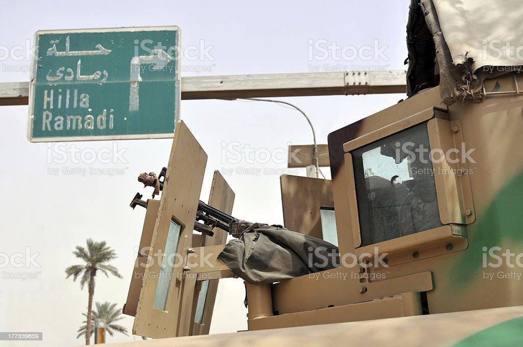 Fighting in Iraq stock photo