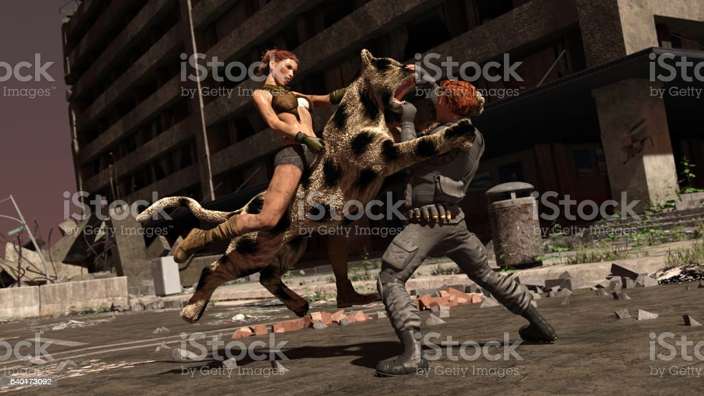 Fighting in the Streets stock photo