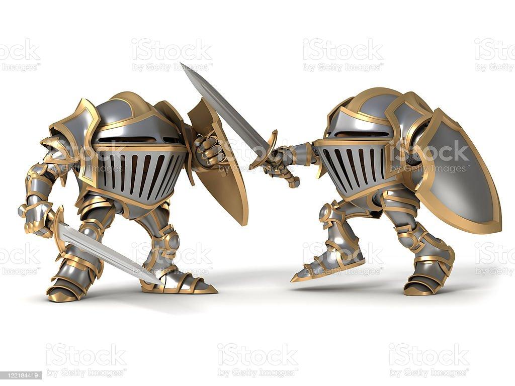 Fighting knight royalty-free stock photo
