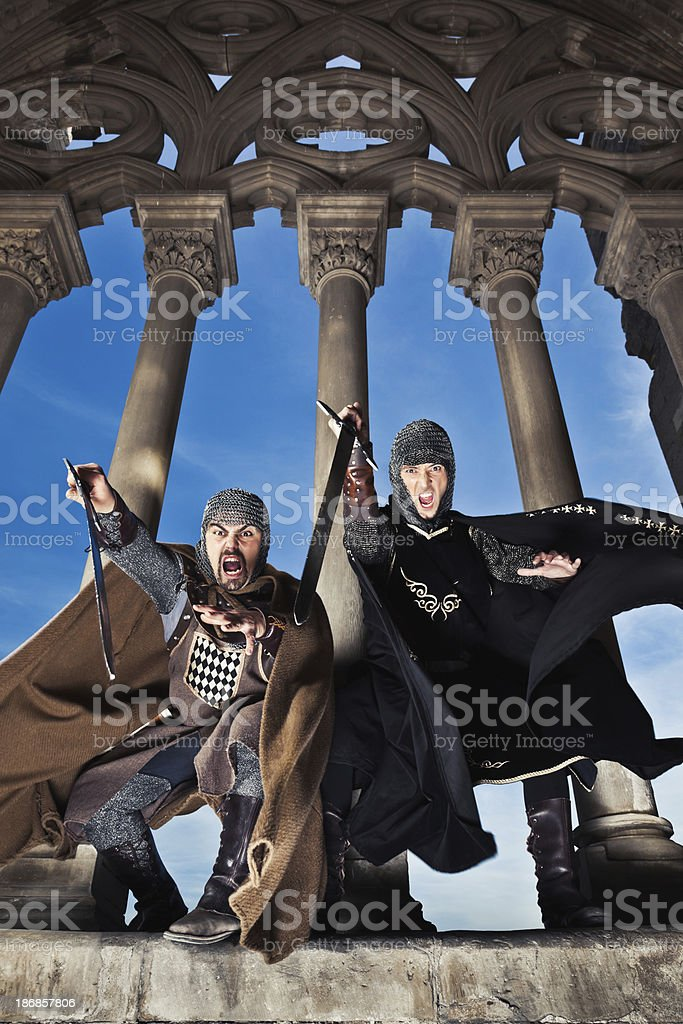 Fighting Knights royalty-free stock photo