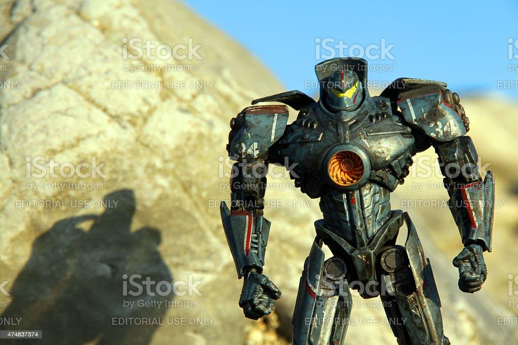 Fighting Machine at Sunset stock photo