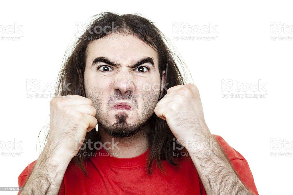 Fighting Man stock photo