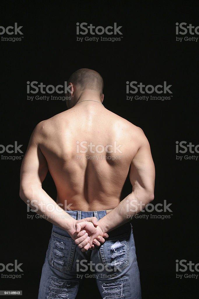 Fighting man royalty-free stock photo