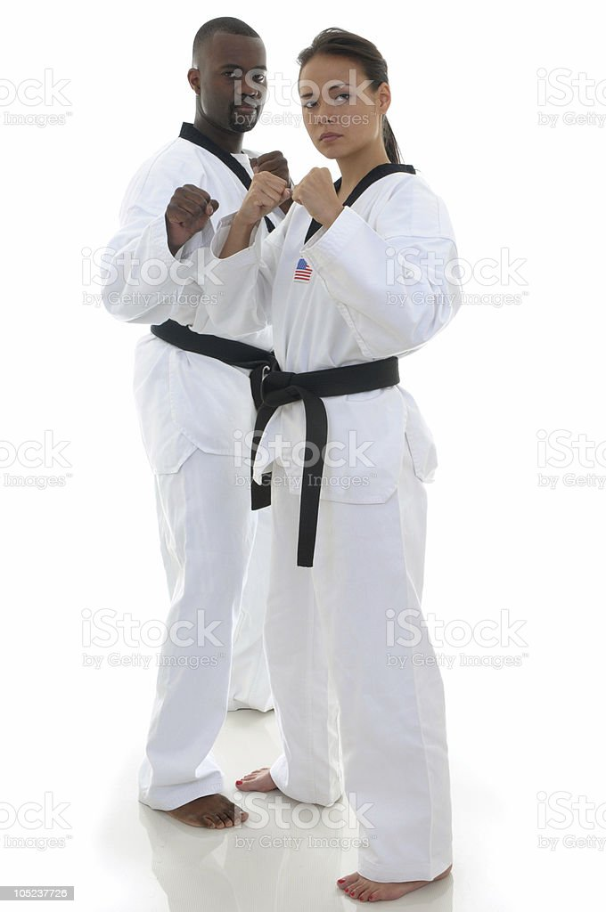 Fighting pair royalty-free stock photo