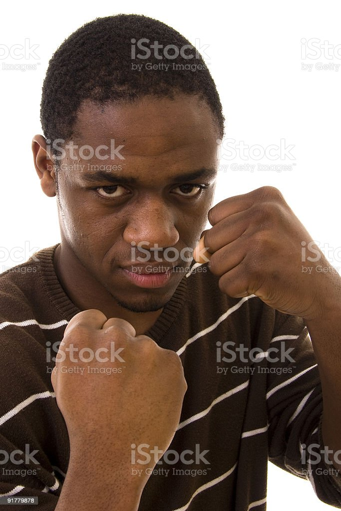 Fighting royalty-free stock photo