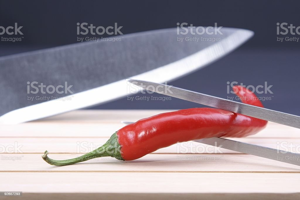 Fighting Red Pepper stock photo