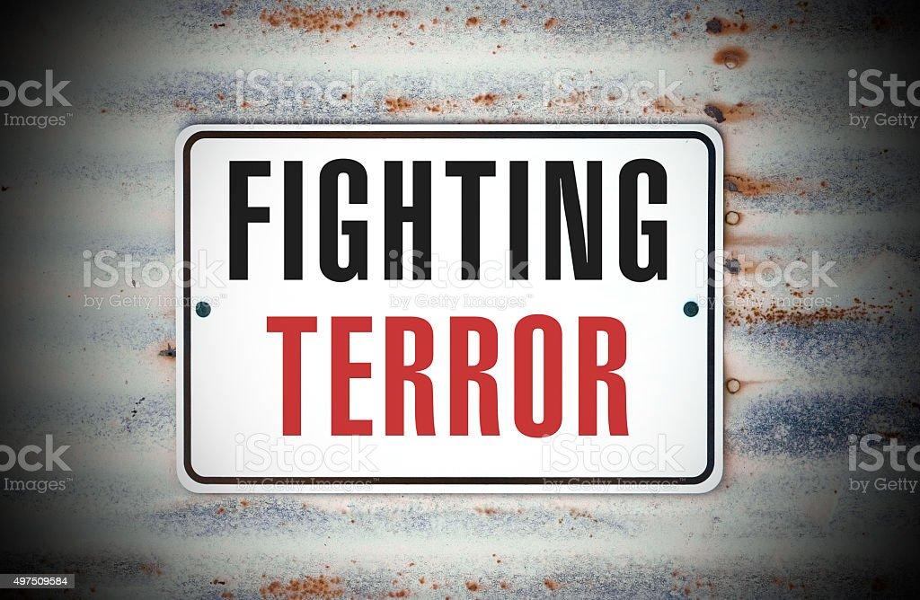 Fighting Terror stock photo
