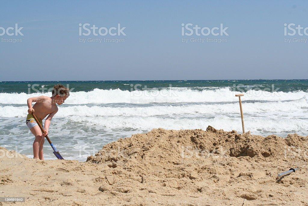 La lucha contra el mar parte 2 foto de stock libre de derechos