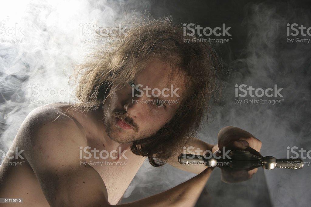 Fighting warrior royalty-free stock photo