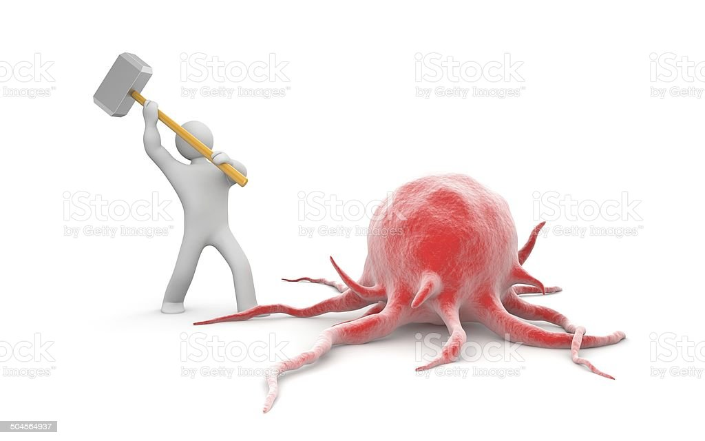 Fighting with cancer stock photo