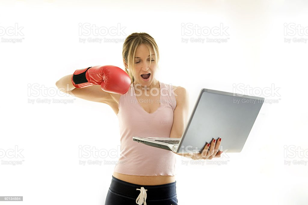 fighting work problems royalty-free stock photo