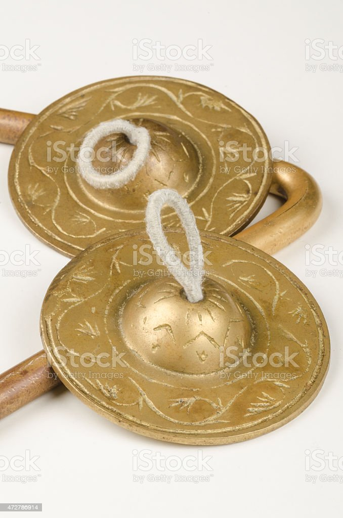 Figner cymbals stock photo