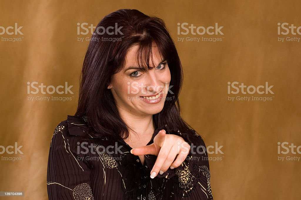 figner pointing royalty-free stock photo