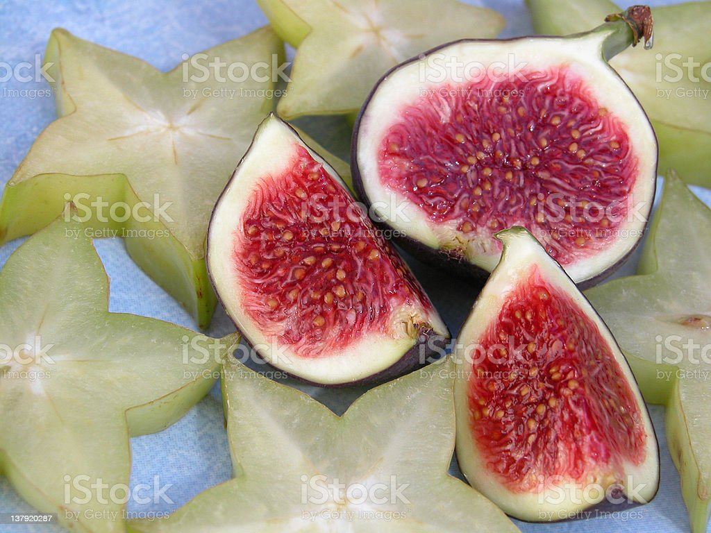 figs and carambolas royalty-free stock photo