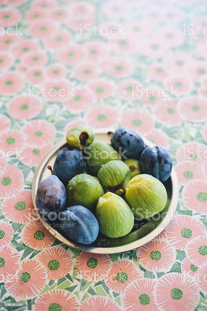 Figs and Plums stock photo