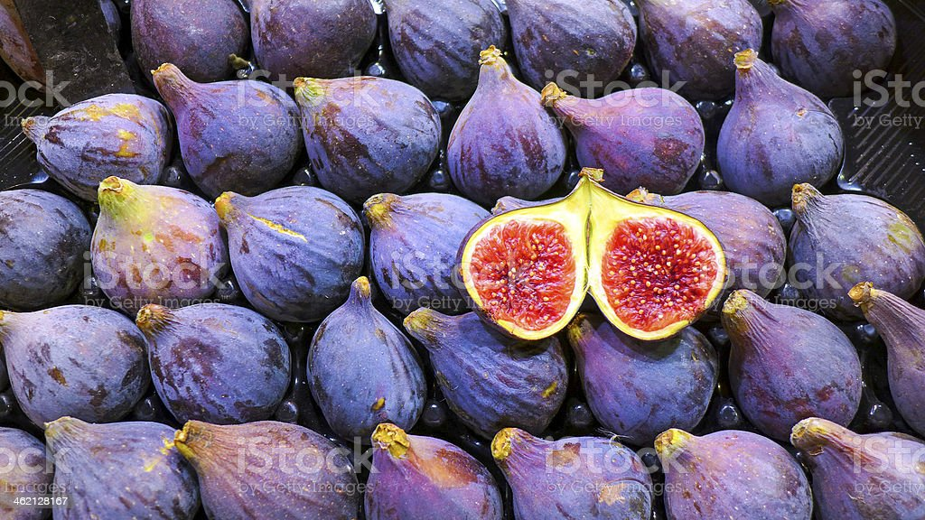 Figs in a Barcelona fruit marked stock photo