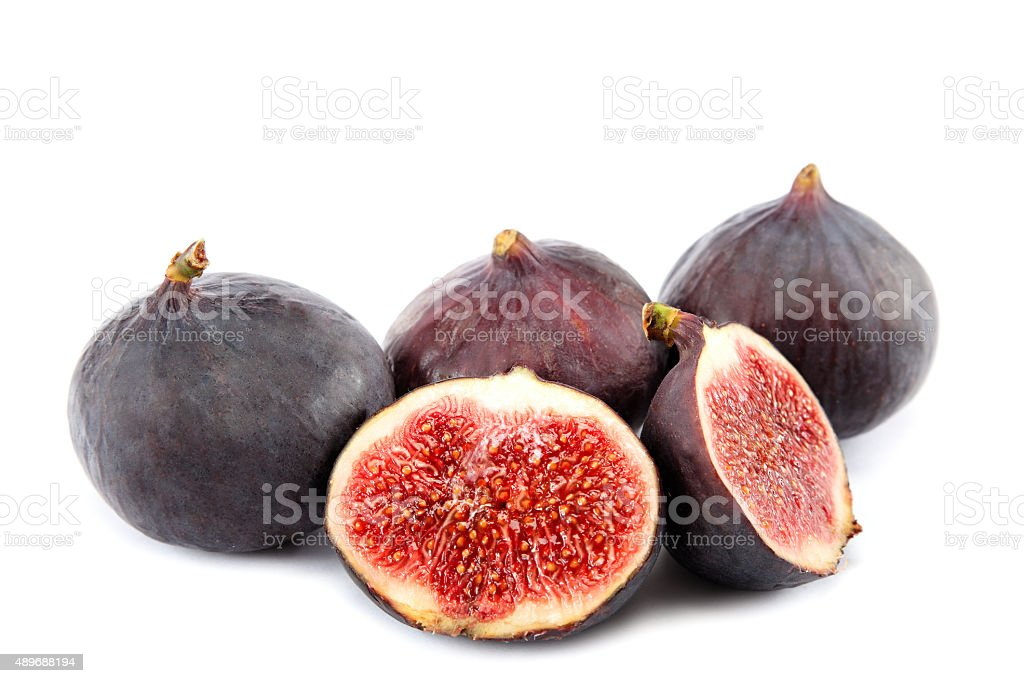 Figs isolated on white background stock photo