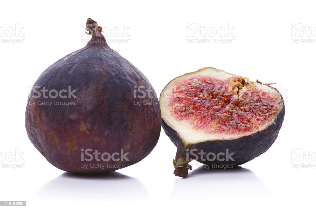 Figs isolated on white stock photo
