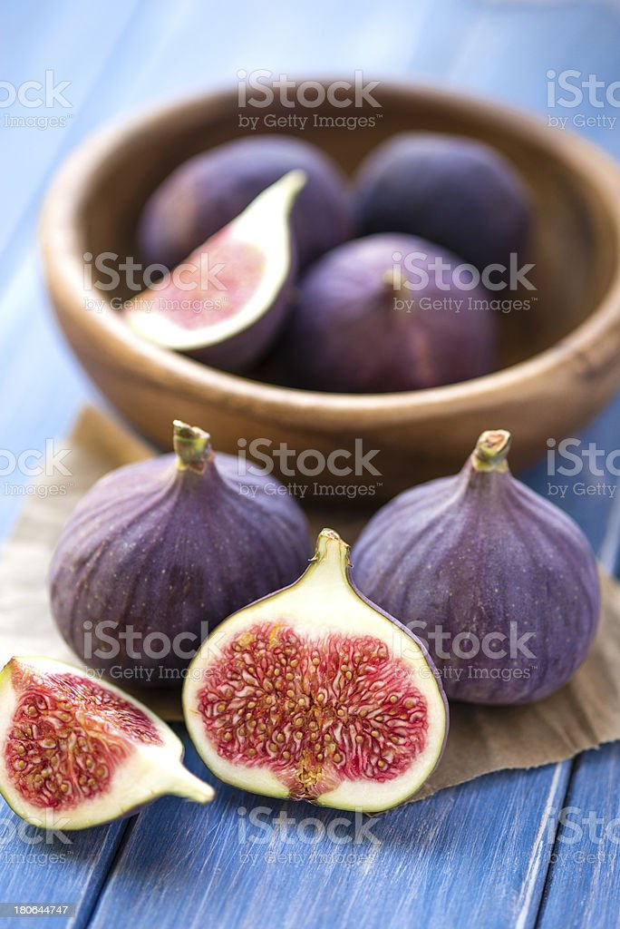 Figs on rustic table stock photo