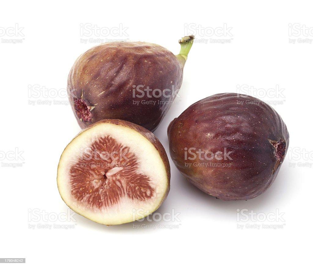 Figs on white background stock photo