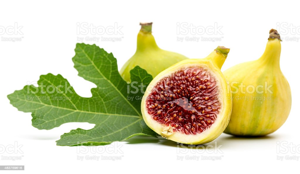 Figs on white background stock photo