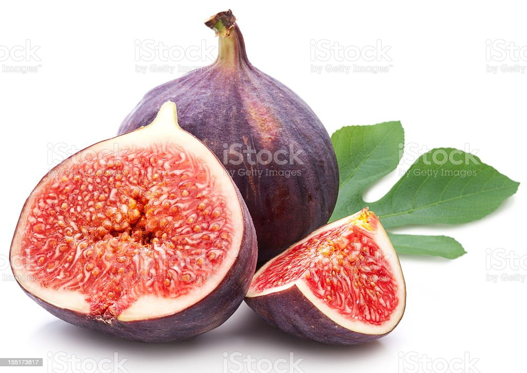 Figs with leaves. stock photo