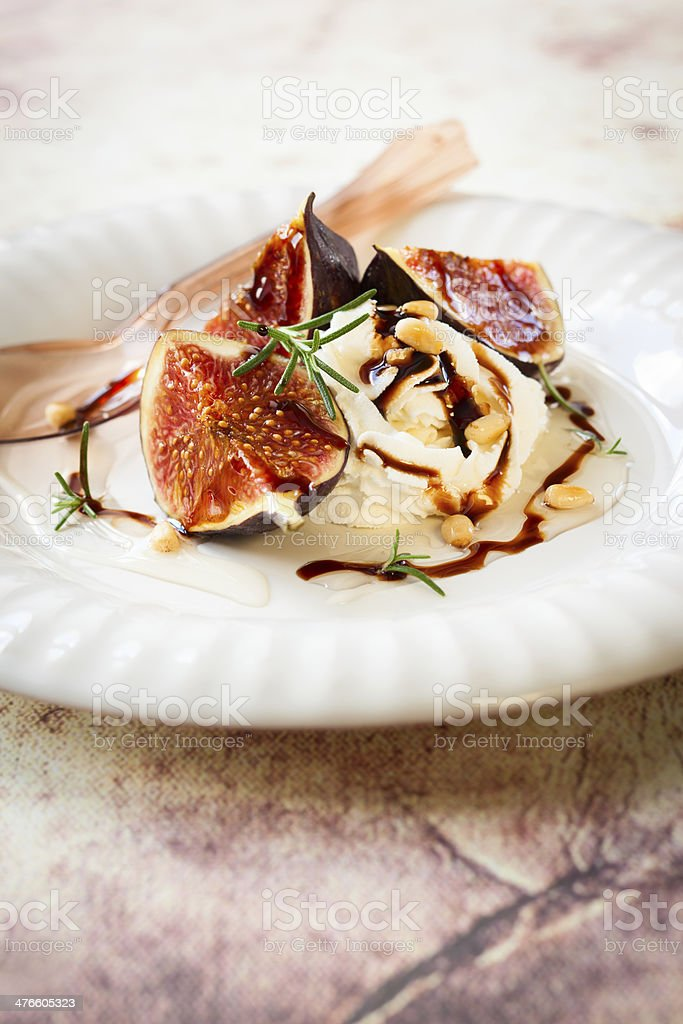 figs with ricotta royalty-free stock photo