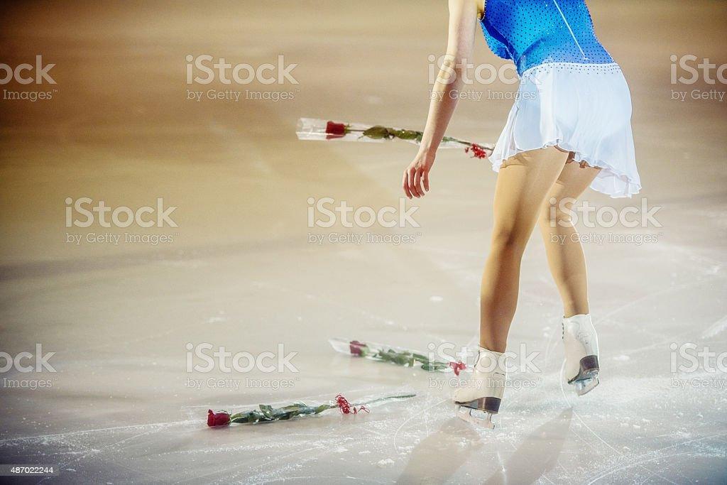 Figure female skater performing stock photo