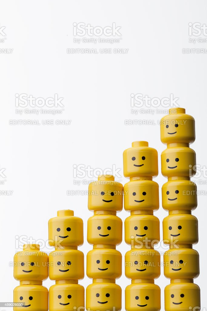 LEGO figure heads royalty-free stock photo