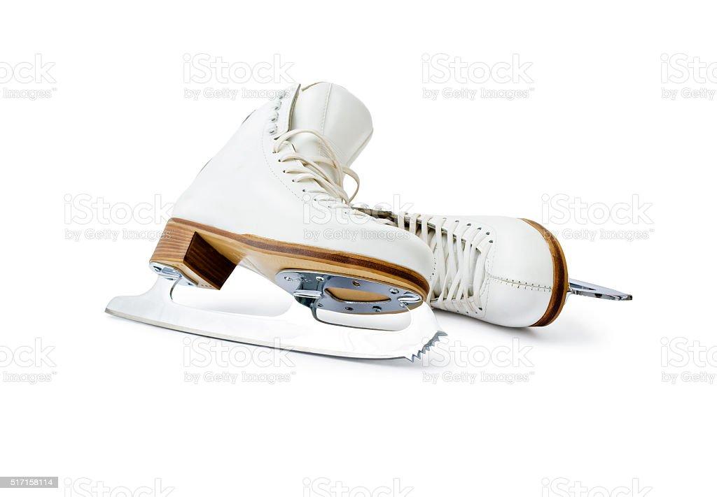 Figure ice skates stock photo