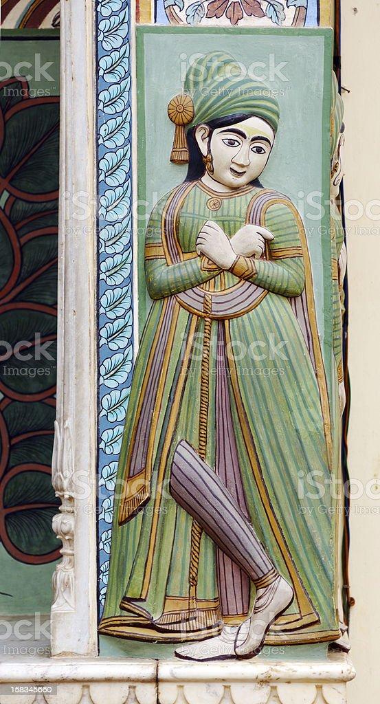 figure in Pitam Niwas Chowk stock photo