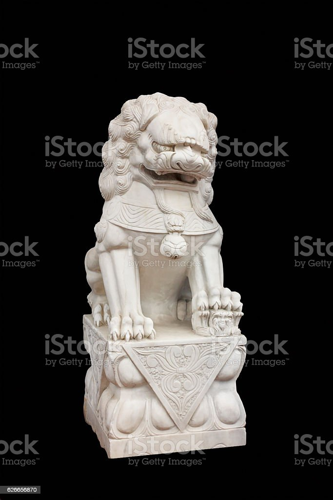 Figure of a lion stock photo