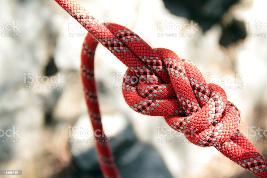 Figure of eight knot stock photo